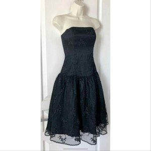Vtg 80's Jessica McClintock Gunne Sax Lace Dress